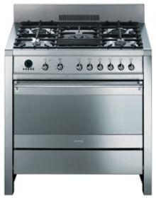 "SMEG Free Standing Dual Fuel Range 36"" : Cooker A1XU6 - Smeg"