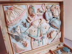 Antique French doll's presentation case ... c. 1890-1910