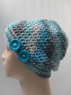 Light Blue Button Hat | Surprise Designs
