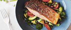 Lola Berry's amazing crispy salmon and salad
