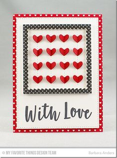 Well-Connected Alphabet Stamp Set, Stitched Heart Grid Die-namics, Stitched Square Scallop Edge Frames Die-namics, Blueprints 20 Die-namics - Barbara Anders  #mftstamps