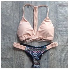 Sexy light pink front tie bikini set 100% Brand new ✨Halter top bikini setpadded inside  Size          Bust             Waist               Hip      S          68-72cm      63-67cm       89-93cm M         73-77cm      68-72cm        94-98cm     L         78-82cm      73-77cm        99-103cm  Not lf✨ only for exposure ✨thank you feel free to ask me anything ✨ Also check out my other listings, I offer 10% off on bundles buy more for one shipping price Empathylove Swim Bikinis