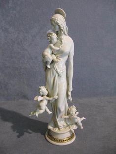 China von Capodimonte von G Cappe  Madonna der engel porzellan weiß | eBay