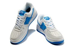 2012 Nike Air Force 1 Low LA 03 White Blue     #Blue #Womens #Sneakers