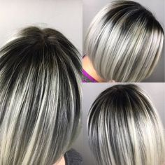Shadow roots and gray tones from today by Hannah