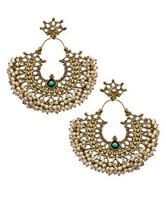 Blossom Box Emerald Pearl Gatsby Earrings #maxandchloe