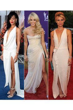 White Dresses with Slits    Rihanna's is gorgeous