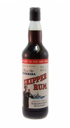 Skipper Rum - A traditional Guyanian dark rum with the unique stamp of quality Demerara Distilled from sugar-cane and molasses, aged in oak casks before blending. Packed full of caramel, treacle, vanilla and toffee flavours. Ron, Bartender, Cigars, Whisky, Man Cave, Liquor, The Best, Alcohol, Beer