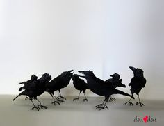 Ravens - Bird Sculpture