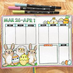 This week's full spread #beforethepen. Happy Easter to everyone celebrating today! I plan on eating my own body-weight in MaltEaster bunnies this weekend - yum! #bulletjournal #bujo #memoryplanning #creativeplanner #bulletjournalweekly #bulletjournalart #bujoweekly #showmeyourplanner #showmeyourbulletjournal #bujoinspo #bulletjournallove #bujojunkies #bulletjournaling #bulletjournalcommunity #plannerdoodles #scribblesthatmatter #bujolove #bulletjournalweeklyspread