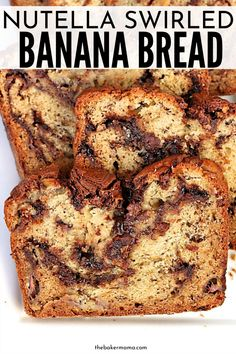 banana bread brownies Nutella Swirled Banana Bread is the ultimate banana bread recipe. This is such a tasty recipe that has swirls of sweet nutella spread in all the bread. Easy Bread Recipes, Banana Bread Recipes, Sweet Recipes, Cooking Recipes, Easy Nutella Recipes, Easy Tasty Recipes, Banana Breakfast Recipes, Nutella Banana Bread, Moist Banana Bread