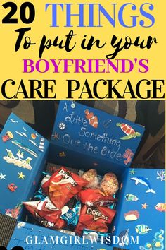 Do you need to send your long distance boyfriend a care package to let him know that you love him? Here are some care package/gift basket/ DIY gift ideas for you to get inspired. Long Distance Relationship Gifts, Long Distance Gifts, Long Distance Packages, Perfect Relationship, Boyfriend Anniversary Gifts, Birthday Gifts For Boyfriend, Christmas Gift Long Distance Boyfriend, Boyfriend Graduation Gift, Graduation Gifts