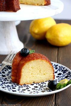 Perfect Lemon Ricotta Bundt Cake | Del's cooking twist Lemon Recipes, Easy Cake Recipes, Dessert Recipes, Desserts, Fruit Recipes, Bon Dessert, Eat Dessert First, Lemon Ricotta Cake, Sweets