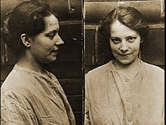Mug shot taken not long after Anna's rescue from a suicide attempt in 1920.