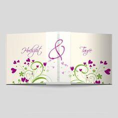Bunt, farbenfroh und fröhlich lebt diese Hochzeitseinladung von der abwechslungsreichen Spannung in der Wiederholung. Alles aus einem Guss.