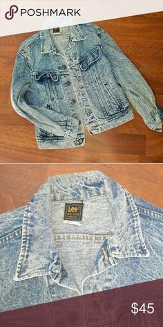 LEE Acid wash Denim Jacket Size Large This is awesome. This is a throwback from the 1990s . Heres a acid wash jean jacket from LEE. Size Large or tag says 20 too. Mint condition! NO STAINS NO HOLES Your gonna love it! Lee Jackets & Coats