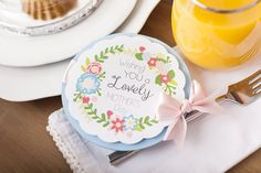 Wish Mom a lovely Mother's Day with this beautiful card - and maybe eve breakfast in bed!