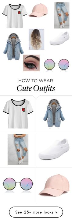 """cute outfit (first outfit)"" by laaauuurrriiiii on Polyvore featuring Sunday Somewhere, Rare London, Vans and Concrete Minerals"