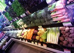 Freshly picked vegetables at @WholeFoodsMarket on #RegentStreet, part of your #5aday