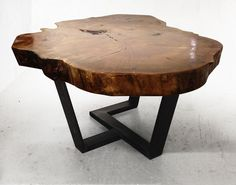 Y shaped coffee table from fallen reclaimed wood