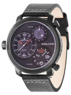 Shop for Gents Mamba black strap watch by Police at ShopStyle. Black Leather Watch, Mens Watches Leather, Gents Watches, Watches For Men, Wrist Watches, Police Watches, Grey Watch, Watches Online, Casio Watch
