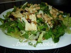 dianitas cooking: Πράσινη Σαλάτα με Εξαιρετική Σως Food Network Recipes, Food Processor Recipes, Cooking Recipes, Healthy Recipes, Good Food, Yummy Food, Tasty, Salad Bar, Appetisers