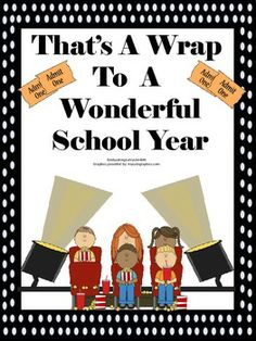 That's A Wrap End of Year Printable Book For Teachers To Use With Their Students! A Celebration of A Great School Year!