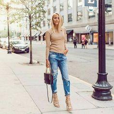 Картинка с тегом «streetstyle, fashion week, and ripped jeans»