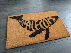 Have you noticed the trend in text-printed doormats? Love the graphic look of black ink on a coir mat background, and all of the cute and funny sayings! Funny Welcome Mat, Welcome Mats, Custom Mats, Funny Doormats, Home Board, H & M Home, Coir, Gifts For Family, Christmas Diy