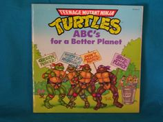 TMNT Turtles ABC's for a Better Planet by TheVintageKeepers
