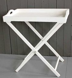 HICKS and HICKS White Wood Tray table - This light white wooden Tray table is perfect for making a big impression with little effort! You can have it full of cake and biscuits for your Mother in Law . White Wooden Tray, Wood Tray, Kitchen Cupboard Storage, Kitchen Cupboards, Table Linens, Home Renovation, Home Furnishings, New Homes, Interior Design