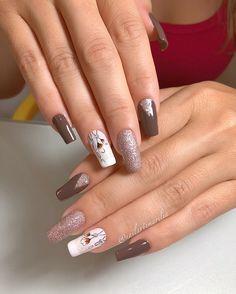 No cuticle removed * . Nail Designs, Hair Beauty, Nail Art, Nails, Diana, Glitter, Women, Nail Art Flowers, Flower Nails