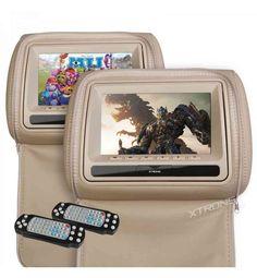 """Buenos días amig@s!! Hoy queremos destacar nuestra pareja de reposacabezas DVD Xtrons color beige de cuero de 7"""" LCD HD 800*480 con cremallera a un precio increíble! Reproduce múltiples formatos: DVD / VCD / SVCD / MP3 / MP4 / CD / JPEG / DIVX e incluye CD con juegos y mandos para el control del DVD para dos jugadores.¿Quieres más info? Pues sólo tienes que hacer click aquí"""