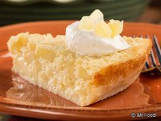 Crustless Pineapple Pie - This low-fat and moist pineapple pie will make your taste buds want to dance the hula!