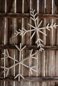 Giant Wood Snowflakes - $20 on Etsy