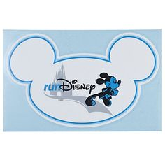 RunDisney Mickey Mouse Decal.  i want to get it and stick it on my fridge as motivation to run a disney race someday.
