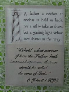 Father Laminated Card Bookmark Scripture by CountrySquirrelsNest