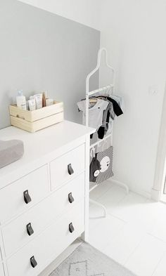 Kids room-inside view-baby room-boy-neutral-scandinavian-shades of gray-diy .