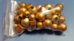 Decorative Round Gold Beads Various Sizes by TheChristianBoutique on Etsy
