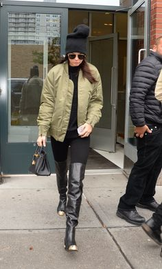 Kendall Jenner Shows How to Style Over-the-Knee Boots Like a Tomboy