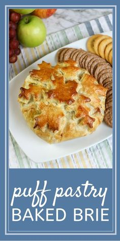 The perfect appetizer! Baked brie in puff pastry with apples and cranberries make this the perfect flavor combination. Southern Appetizers, Southern Recipes, Yummy Yummy, Yummy Food, Brie Puff Pastry, Baked Brie, Potluck Recipes, Appetizer Dips