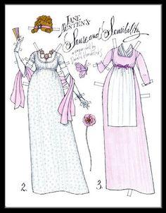 Natallie Nazareth Alcantara Chagas uploaded this image to 'Jane Austen/Jane Austen paper dolls'. See the album on Photobucket. Jane Austen, Paper Toys, Paper Crafts, Paper People, Bobe, Victorian Art, Vintage Paper Dolls, Childhood Toys, Album
