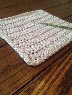 Beginning Crochet Simple Crochet Dishcloth Pattern - Crochet Unique, Crochet Simple, Crochet Gifts, Crochet Hooks, Knit Crochet, Free Crochet, Crochet Granny, Tunisian Crochet, Crochet Stitch
