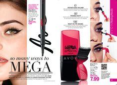 so many ways to MEGA - Mega Effects Mascara $7.99 | Mega Effects Liquid Eye Liner $4.99 https://www.avon.com/search/mega?cel_id=mega|T_mega?repId=16402404