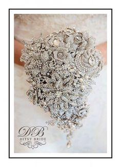 Crystal Brooch Vintage Style Bridal Bouquet.