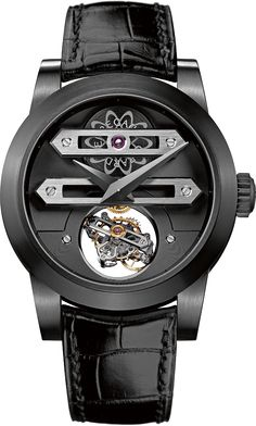 Girard-Perregaux Biaxial Tourbillon Front. I know GP is a company that makes superior watches, and I'm sure this one is a marvel of Swiss workmanship. However, neat as it is, it's a little too...crazy, for me.