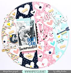 Design Team layout for Hip Kit Club, using the May 2016 Hip Kit & Add-On Kits. Baby Scrapbook, Scrapbook Paper Crafts, Paper Crafting, Scrapbook Page Layouts, Scrapbook Pages, Photo Layouts, Scrapbooking Ideas, Hip Kit Club, Studio Calico