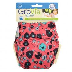 GroVia Cloth Diaper Shell - Snap Closure Snap closures are hard for baby to remove. Hybrid is versatile.