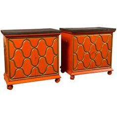Pair of Dorothy Draper Henredon Chests Dark Living Rooms Modern Cabinets Storage Cabinets