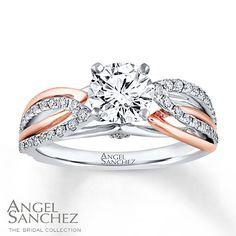 Angel Sanchez Ring 1 1/3 ct tw Diamonds 14K Two-Tone Gold